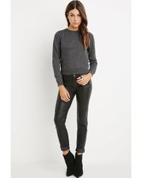 Forever 21 | Gray Classic Heathered Sweater | Lyst