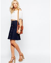 Pepe Jeans | Blue Denim A-line Knee Skirt | Lyst