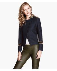 H&M - Blue Woolblend Jacket - Lyst