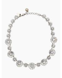 kate spade new york | Metallic Crystal Gardens Collar Necklace | Lyst