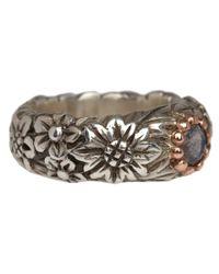 Laurent Gandini - Metallic Silver And Rose Gold Labradorite Ring - Lyst