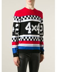 Love Moschino - Black '24 X 42' Intarsia Sweater for Men - Lyst