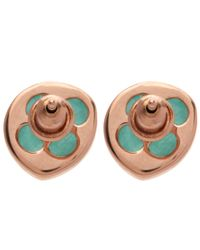 Monica Vinader - Green Rose Gold-plated Amazonite Siren Stud Earrings - Lyst