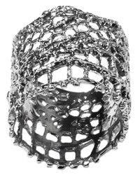Aurelie Bidermann - Gray 'Vintage Lace' Ring - Lyst