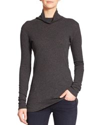 Rag & Bone | Gray Seamed Long-sleeve Turtleneck | Lyst