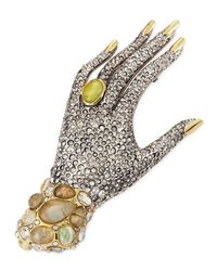 Alexis Bittar | Yellow Jardin Mystere Crystal Hand Pin Brooch | Lyst