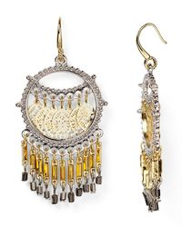 Aqua | Metallic Rox Fringe Dreamcatcher Earrings | Lyst
