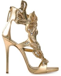 Giuseppe Zanotti | Metallic Leaves Sandals | Lyst