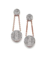 Phillips House | Pink Affair Diamond & 14K Rose Gold Infinity Double-Drop Earrings | Lyst