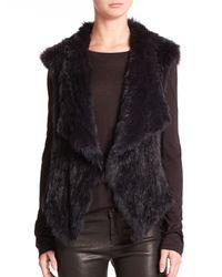 Nicholas | Blue Rabbit Fur Vest | Lyst