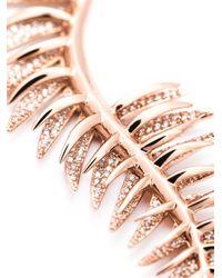 Eddie Borgo | Metallic Pavé Frond Pendant Necklace | Lyst