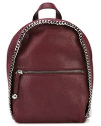 Stella McCartney - Red 'falabella' Backpack - Lyst