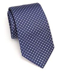 Eton of Sweden - Blue Diamond-patterned Silk Tie for Men - Lyst