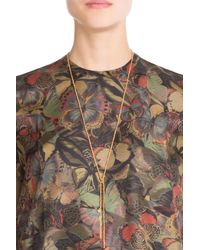 Carolina Bucci - Metallic 18k Gold Necklace With Silk - Lyst