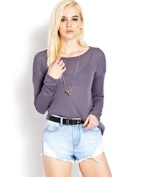 Forever 21 - Gray Easy Semi-sheer Top You've Been Added To The Waitlist - Lyst