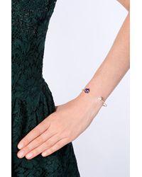 Delfina Delettrez | Metallic Purple Topaz Triangle Bracelet | Lyst