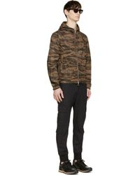 Moncler - Brown Camo Reversible Jacket for Men - Lyst