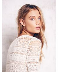 Free People | White Lace Romper | Lyst