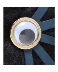 Sophie Hulme - Black Large Pom Pom Sheepskin Fur Keyring - Lyst