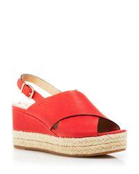 65035840e3c0 Via Spiga. Women s Red Platform Wedge Sandals - Bloomingdale S Exclusive  Triana