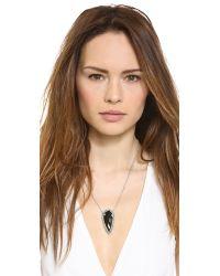 Pamela Love - Black Arrowhead Pendant Necklace - Lyst