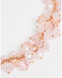 Ted Baker - Metallic Bead Cluster Necklace - Lyst