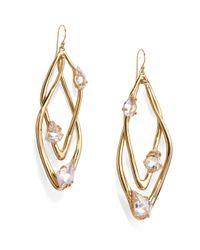 Alexis Bittar | Metallic Miss Havisham Liquid Crystal Floating Stone Orbital Earrings | Lyst
