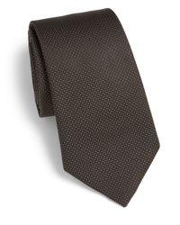 Armani - Micro Pindot Silk Tie for Men - Lyst