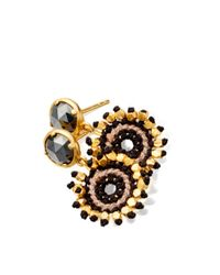 Astley Clarke - Black Calypso Hematite Sonatina 18Ct Gold Earrings - For Women - Lyst