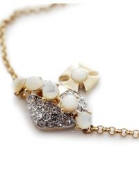 Vivienne Westwood   Metallic Bas Relief Diamanté Orb Bracelet   Lyst
