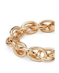 Forever 21 - Metallic Chain-Link Stretch Bracelet - Lyst