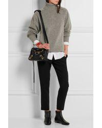 dc3342eb430e Women s Black Classic Metallic Edge City Mini Textured-leather Shoulder Bag