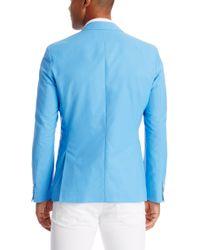 BOSS - Blue 'raye'   Extra Slim Fit, Cotton Blend Sport Coat for Men - Lyst