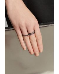 Maria Black   Gray Double Harper Oxidized Silver Ring   Lyst