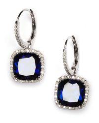 Vendoro - Blue Citrine And Diamond Drop Earrings - Lyst