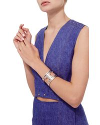 Monica Sordo | Metallic M'o Exclusive: Ducane Rose Gold And Ruthenium Cuff | Lyst