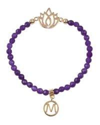 Melissa Odabash | Purple Amethyst And Gold Dipped Bracelet | Lyst
