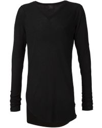 Lost & Found - Black Asymmetric Hem V-neck Sweater for Men - Lyst