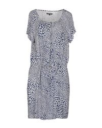 Tommy Hilfiger - Blue Short Dress - Lyst