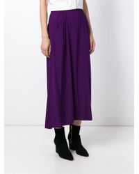 Zero + Maria Cornejo - Purple Elasticated Waist Skirt - Lyst