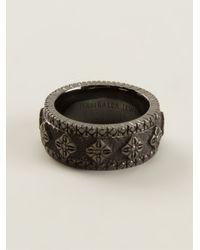 Shamballa Jewels - Gray Diamond Embellished Ring for Men - Lyst