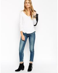 ASOS - White The New Forever T-shirt With Long Sleeves In Soft Touch - Lyst