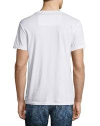 Robin's Jean - White Logo & Skull Short-sleeve Graphic Tee for Men - Lyst