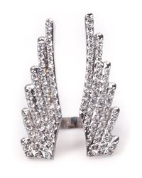 Joanna Laura Constantine | Metallic Wing Split Ring | Lyst