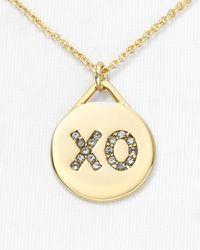 Rebecca Minkoff - Metallic Xo Necklace 16 - Lyst