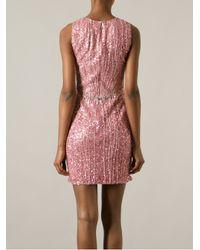 Jenny Packham - Pink Sequin Embellished Dress - Lyst
