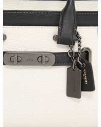 COACH | White Swagger Grained Leather Top Handle | Lyst
