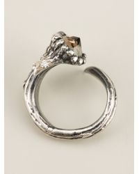 Aaron Jah Stone - Metallic Dear Deer Tourmaline Ring - Lyst