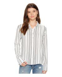 MINKPINK - White Stripe Soft Shirt - Lyst
