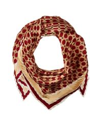 Vince Camuto | Multicolor Military Dot Pleated Square Scarf | Lyst